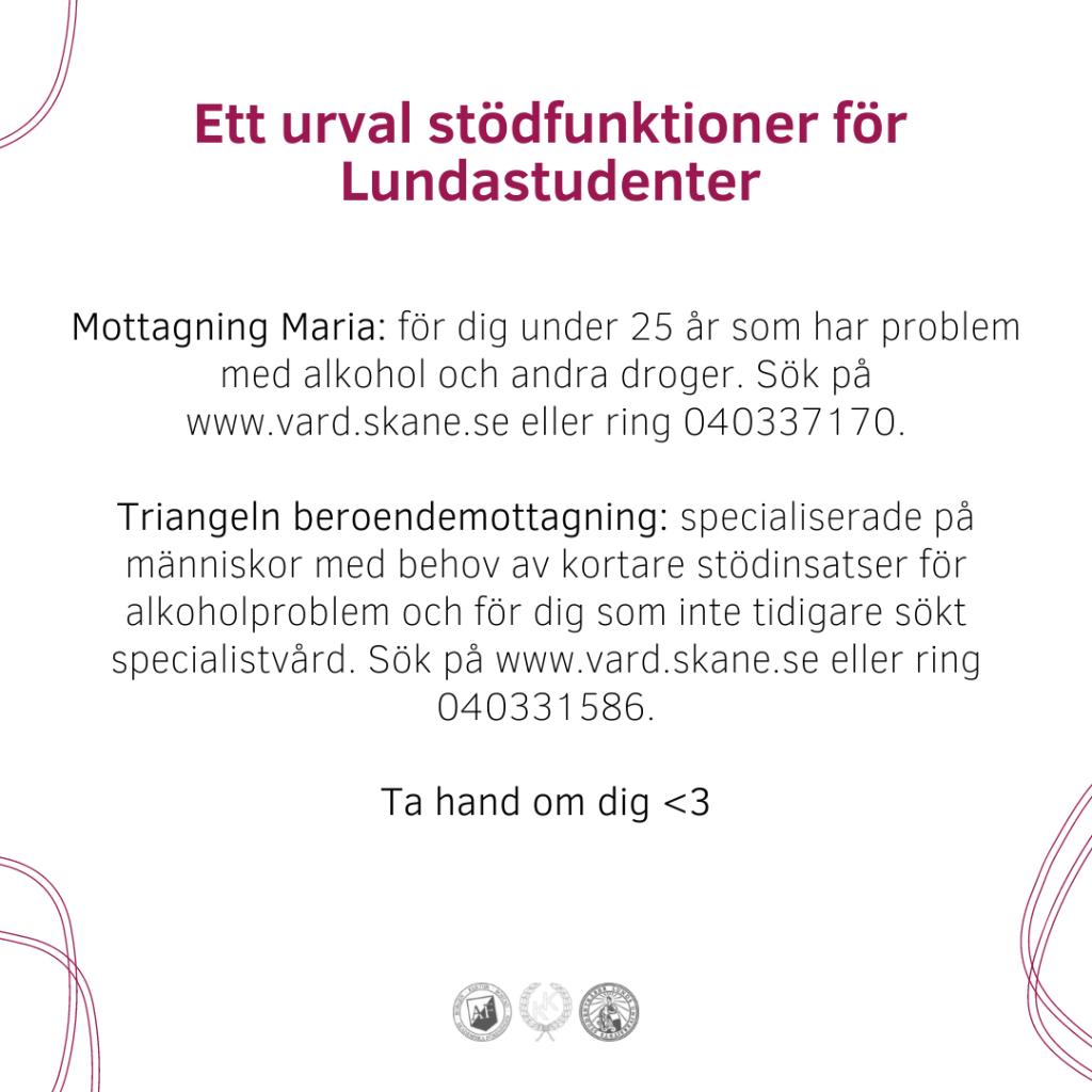 Hjälp mot ångest, oro, psykisk ohälsa som student i Lund.